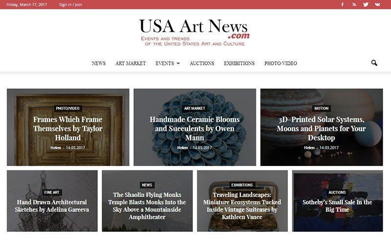 разработка сайта-портала об искусстве в США