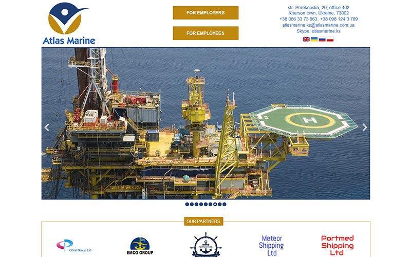 Разработка сайта для крюингового агенства Atlas Marine