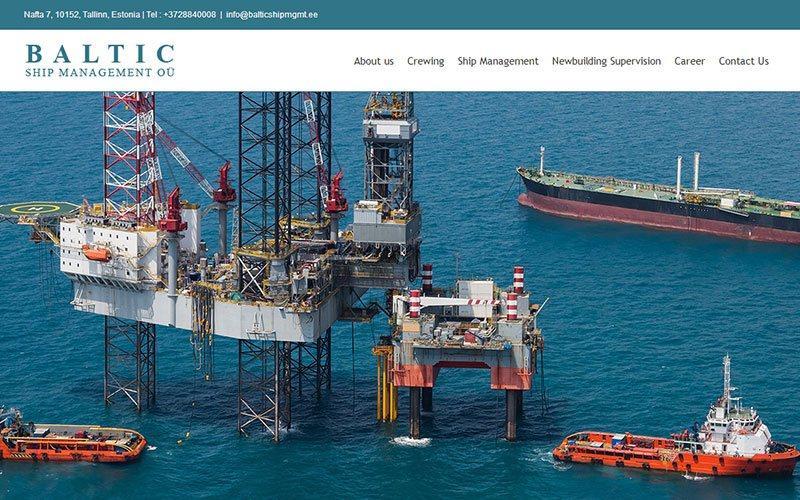 Разработка корпоративного сайта крюингового агентства Baltic Ship management