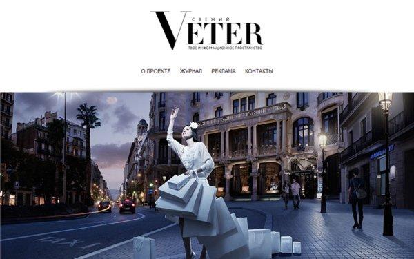 Разработка имиджевого сайта для журнала Ветер